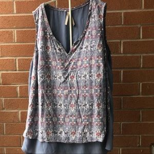 penningtons sleeveless blouse - 2X